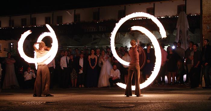 Hochzeits Feuershow Partnerchoreographie